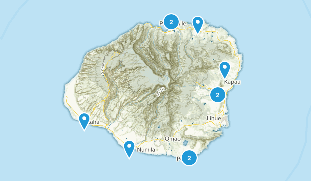 Kauai Trails Map