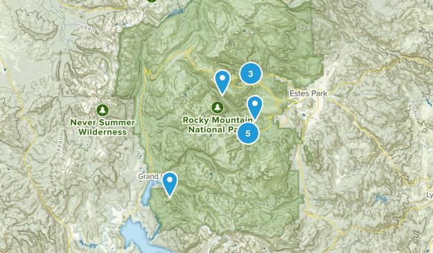 Rocky Mountain NP Map
