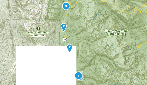 RMNP West Side/Grand Lake Map