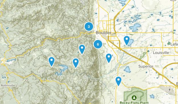 Boulder hikes Map
