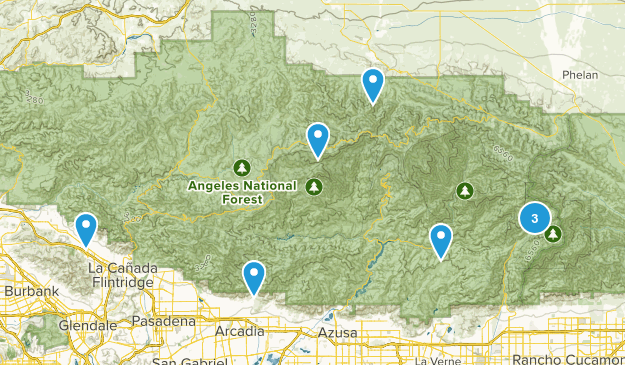 Angeles Forest Map