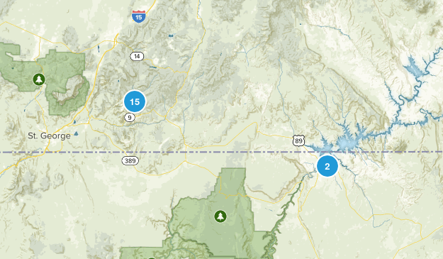 Zion Natl. Pk. Vacation Map