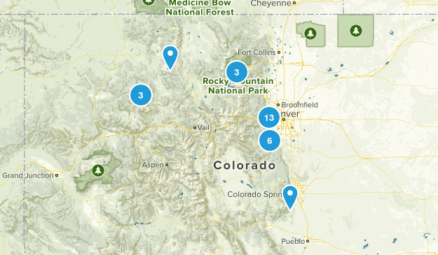 Colorado Hikes Map