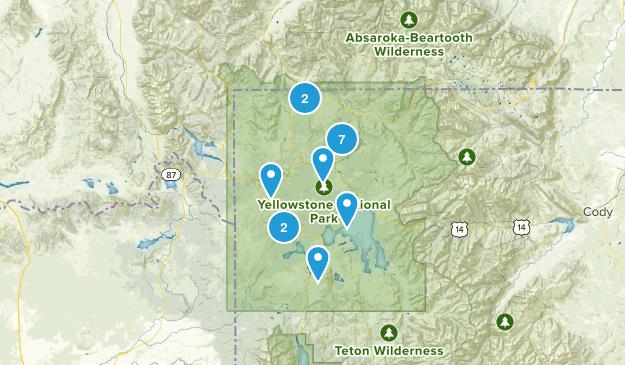 Yellowstone Hikes Map