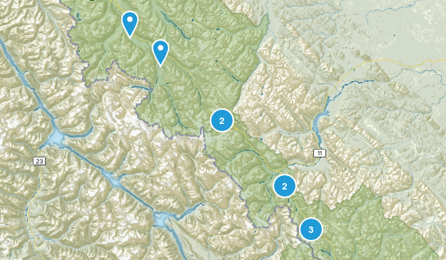 icefield parkway Map