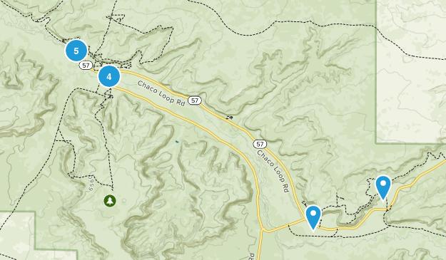 Chaco Canyon Map