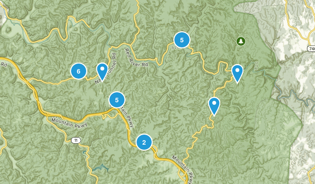 Red Ruver Gorge Map