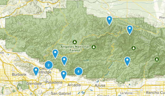 Angeles National Forest Map