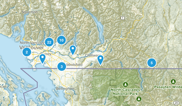 Mission, Chilliwack, Langley ect Map