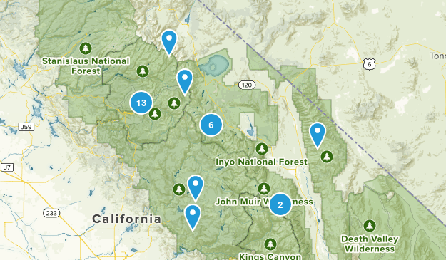 Mammoth/ Yosemite Map