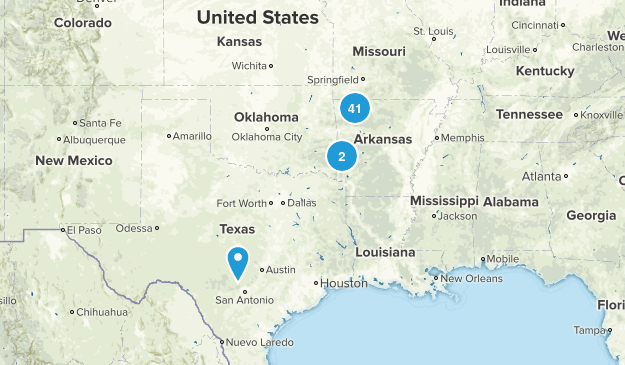 Arkansas Waterfalls  Map