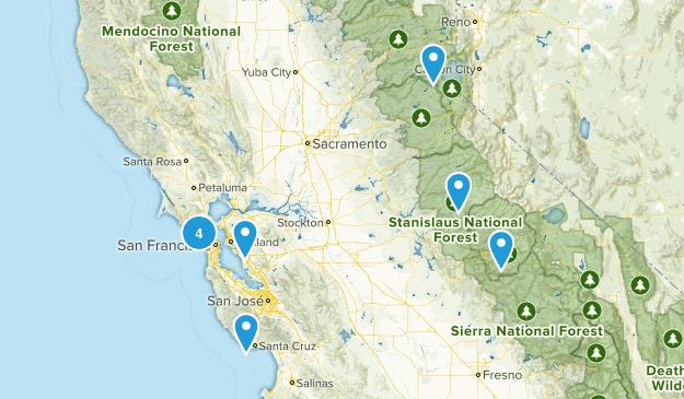 California Hikes Map