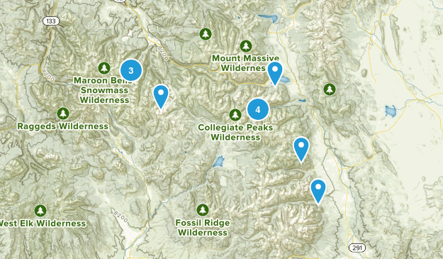 14ers Map