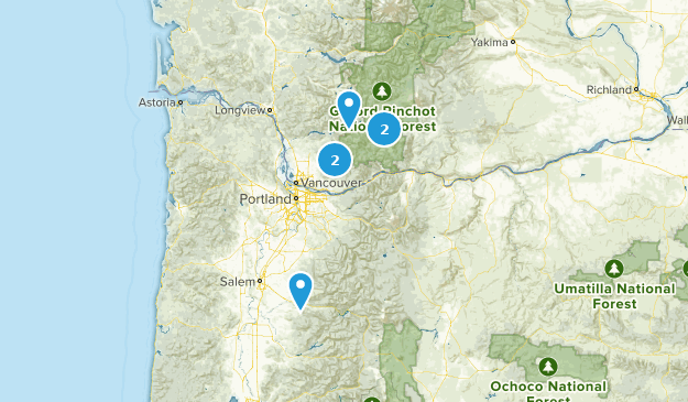 Tuesday hikes Map