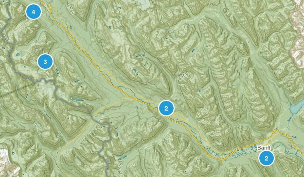 Banff NP Map