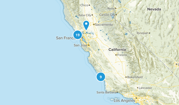 Bay Area Hikes To Do List Map