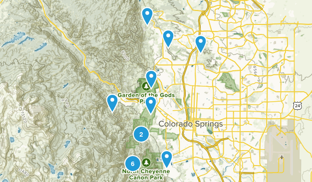 COS Trails I Want To Hike Map