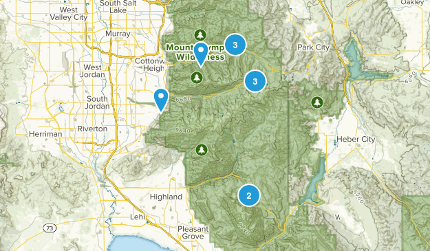 trails to hike in northern utah Map