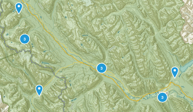 Banf Hike Possibilities  Map