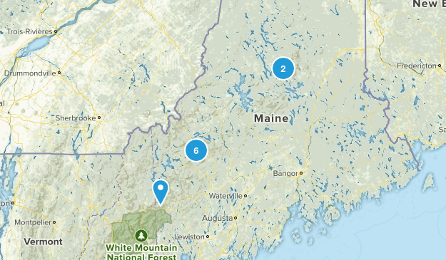 Maine 4k trails Map