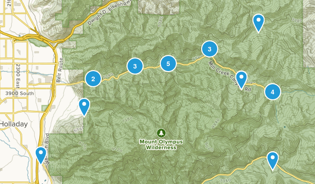 Millcreek Canyon Map