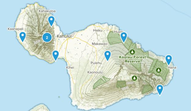 Maui Hikes Map