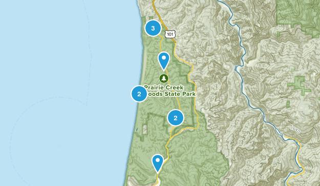 Prairie Creek Area Map