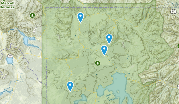 Greater YNP Hikes Map