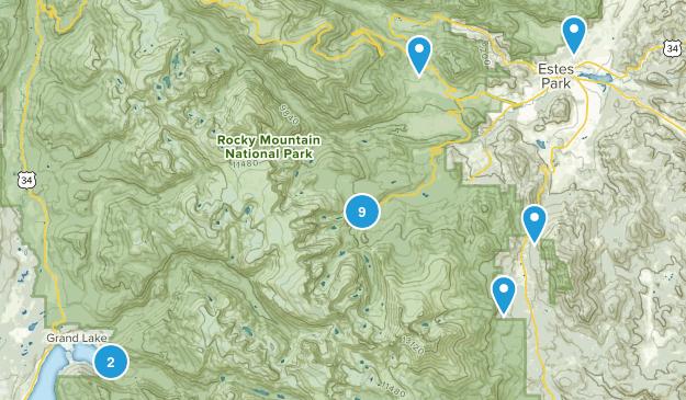 Rocky Mountain Nat Park Map