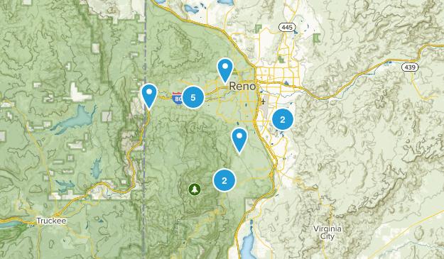 Reno Hikes  Map