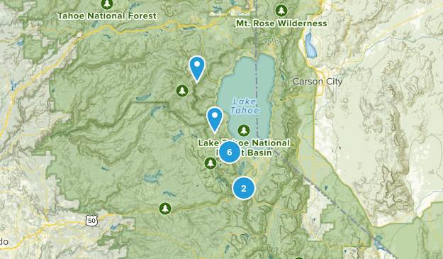 south lake tahoe Map