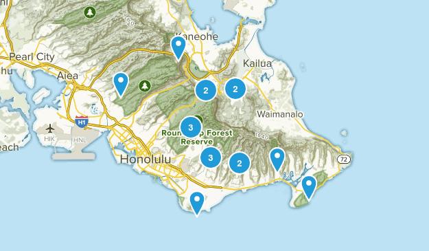Oahu Hikes Map