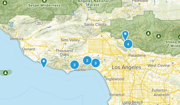 LA med (4-8 mi) Map