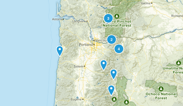 places i want to hike Map