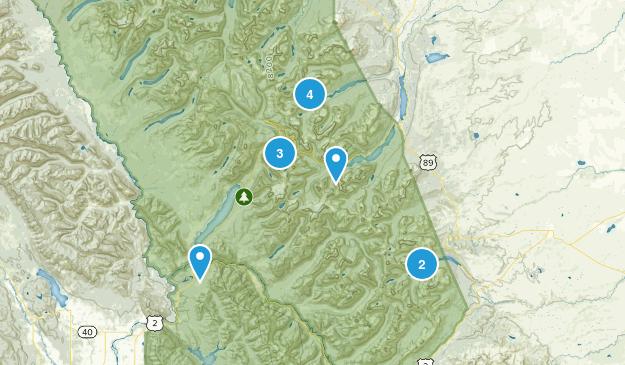 Glacier NP Map