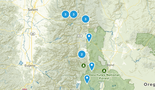 Backpacking Trips Map
