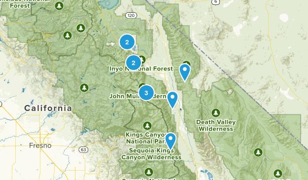 Bishop / Big Pine Trip Map