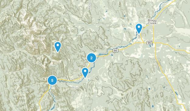 Bragg creek Map