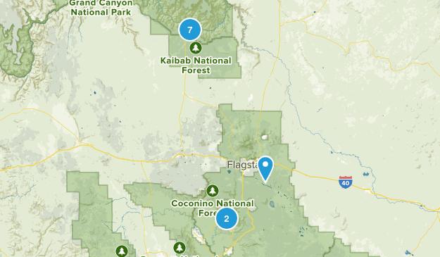 arizona hikes Map