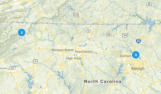to-do in NC  Map
