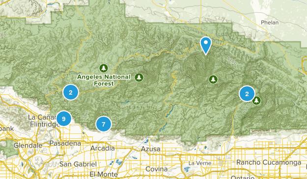 LA hiking Spots Map