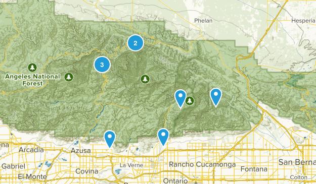 hard hikes Map