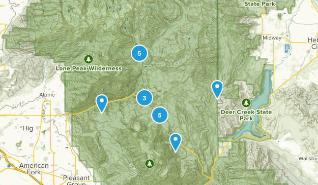 American Fork Canyon Map