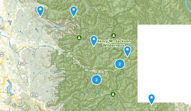 Hikes I Remember Map