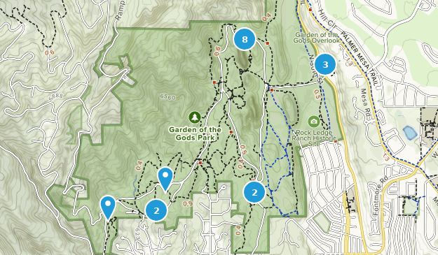 Garden of the Gods Map