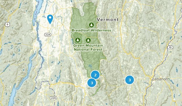 snowshoe options Map