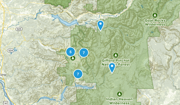 saint helens Map