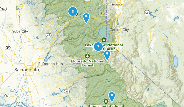 Dave's Sierra Fishing Map