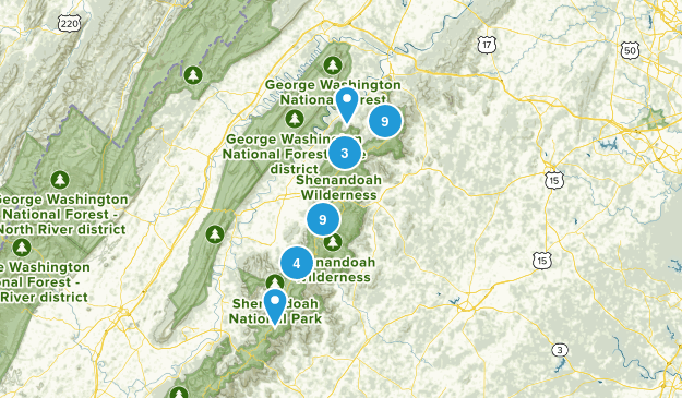 Shenandoah easy Map