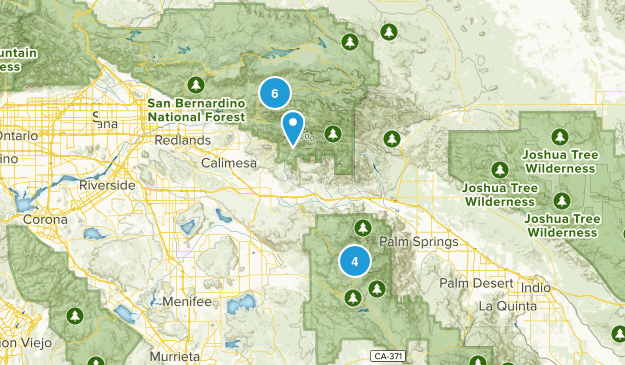 San Bernardino Wilderness Map